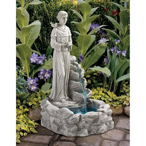 Nature's Blessed Prayer St. Francis Sculptural Fountain