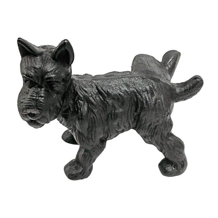 View larger image of Naughty Peeing Scotty Dog Die-Cast Iron Bookend and Doorstop