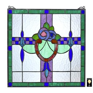 Nightshade Arts and Crafts Tiffany-Style Stained Glass Window