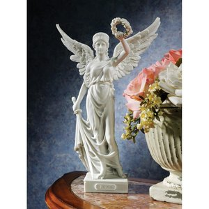 Nike, the Winged Goddess of Victory Bonded Marble Resin Statue