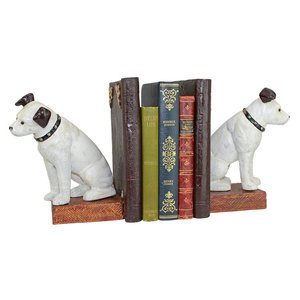 Nipper the Dog Cast Iron Sculptural Bookend Pair