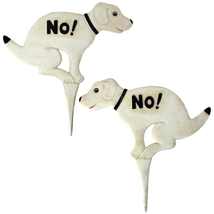 View larger image of No Pausing Pooch Dog Lawn Stake Sign Collection: Set of Two Medium