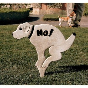 No Pausing Pooch Lawn Stake Sign: Large