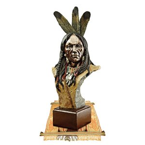 Noble Chief Native American Bust Statue