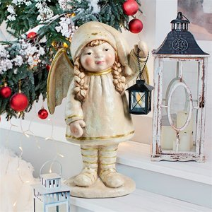 Noelle Shines the Christmas Light Holiday Angel Statue