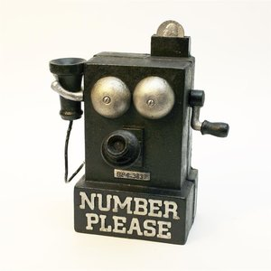 Number Please Phone Iron Mechanical Bank