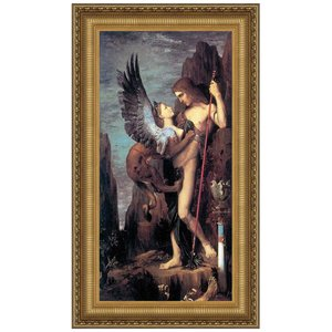 Oedipus and the Sphinx, 1864: Canvas Replica Painting: Small