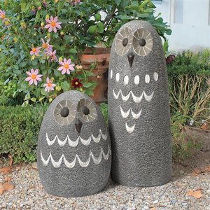 Ogling Outdoor Owls Garden Statues: Set of Two