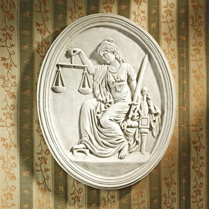 Old Bailey Courthouse Lady Justice Wall Sculpture