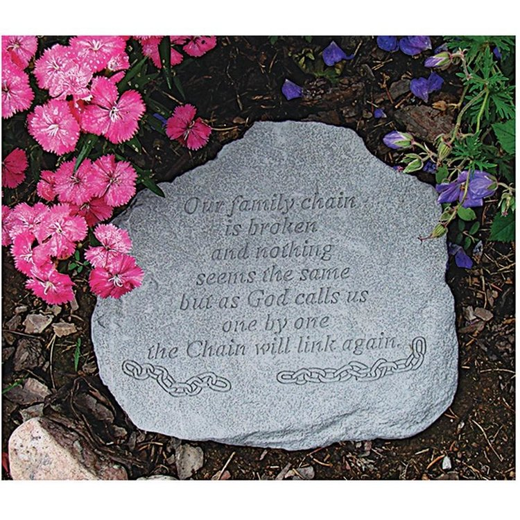 View larger image of Our Family Chain: Cast Stone Memorial Garden Marker