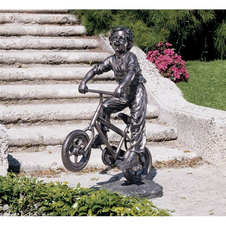 View larger image of Out for a Ride Garden Sculpture