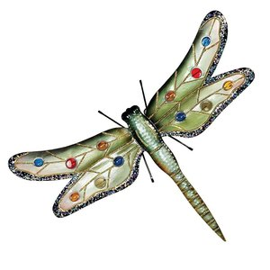 Oversized Dragonfly Metal Wall Sculpture