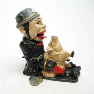 Paddy Pig Cast Iron Mechanical Coin Bank