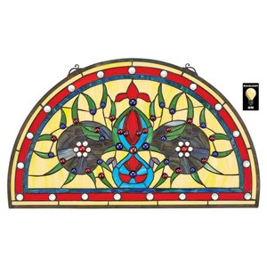 Palladios Demi-Lune Stained Glass Window