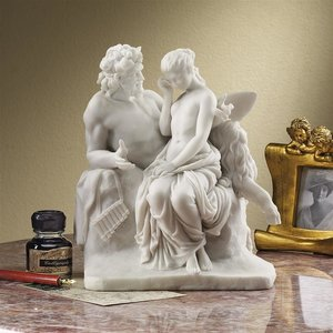 Pan Comforts Psyche Bonded Natural Marble Resin Statue