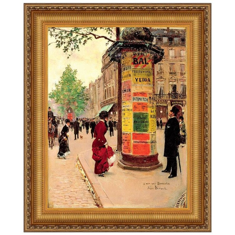 View larger image of Paris Kiosk, (1880-84): Canvas Replica Painting: Small