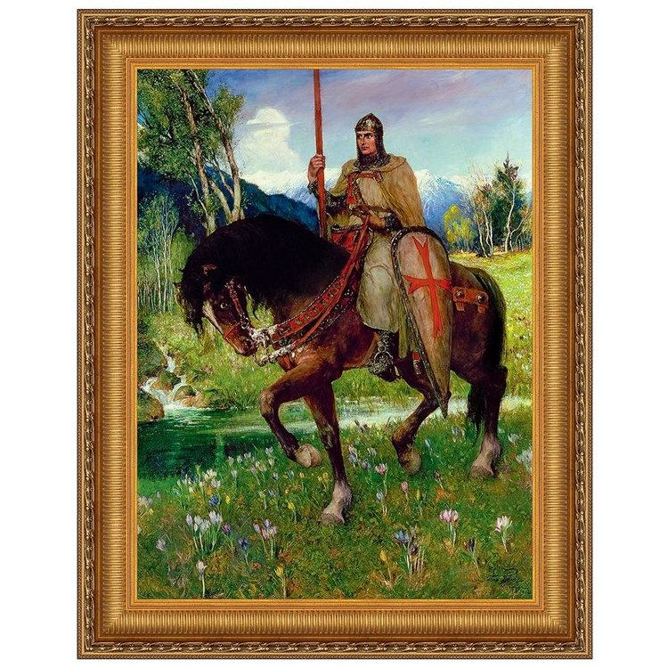 View larger image of Parsifal in Quest of the Holy Grail, 1912: Canvas Replica Painting: Grande
