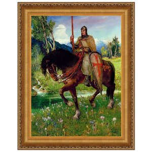 Parsifal in Quest of the Holy Grail, 1912: Canvas Replica Painting: Small