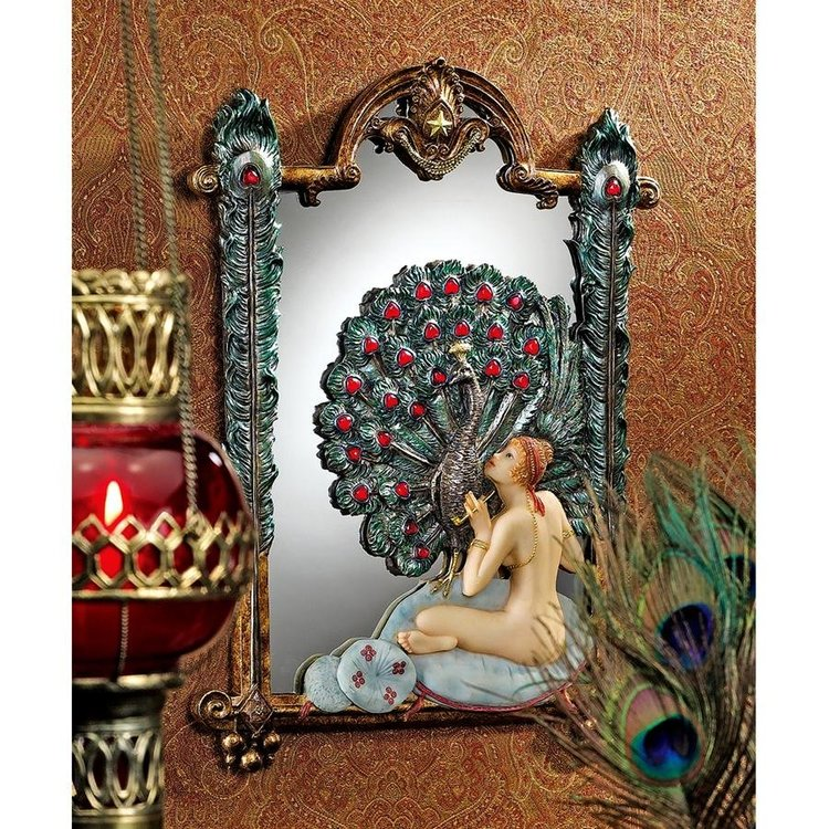View larger image of Peacock Dreams Mirrored Wall Sculpture
