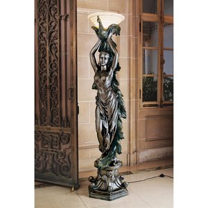 The Peacock Goddess Torchiere Floor Lamp
