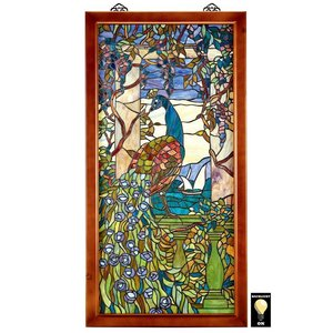 Peacock Wisteria Wood Stained Glass