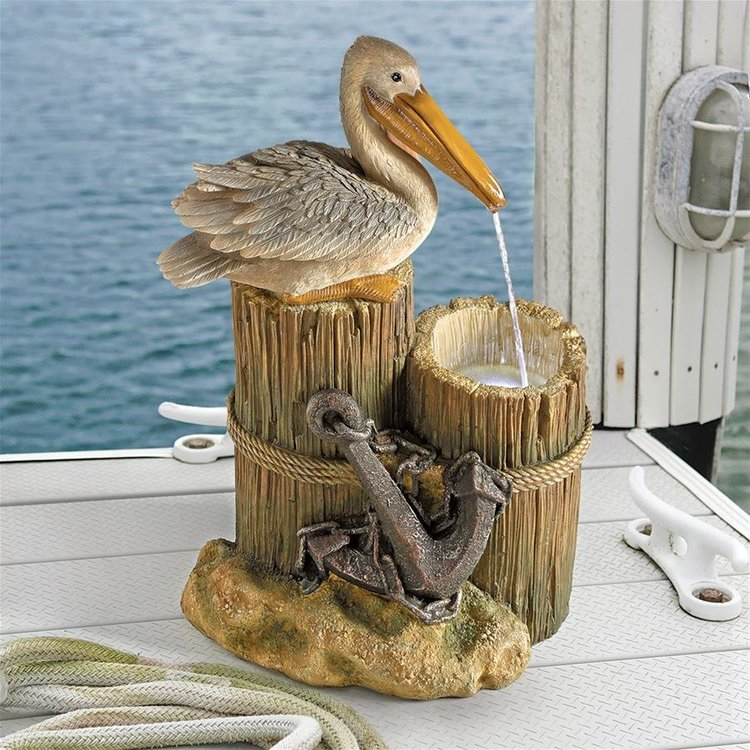 View larger image of Pelican's Seashore Roost Sculptural Fountain