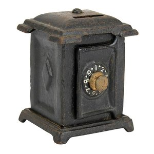 Penny Safe Die-Cast Iron Mechanical Coin Bank