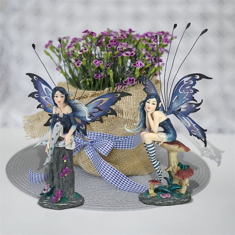 View larger image of Azure and Sapphire, the Pepperwand Fairy Statues