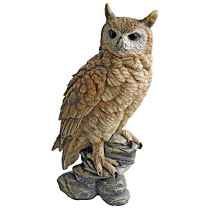 Perching Forest Owl Statue