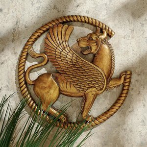 Persian Griffin Wall Sculpture
