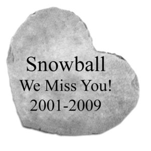 Personalized Heart-Shaped Cast Stone Pet Memorial Statue