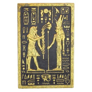 Pharaoh Seti Offering to the Goddess Mut Wall Sculpture