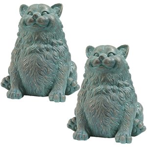 Phat Cat Statue: Set of Two