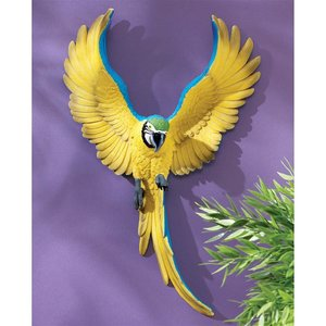 Phineas the Flapping Macaw Bird Wall Sculptures