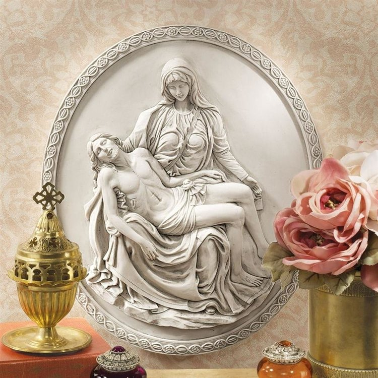 View larger image of Pieta Wall Sculpture: Set of Two