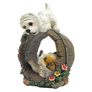 Playful Puppy Dogs Statue