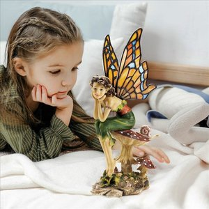 Pondering Pixie Stained Glass Sculpture