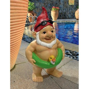 Pool Party Pete Naked Gnome Statue