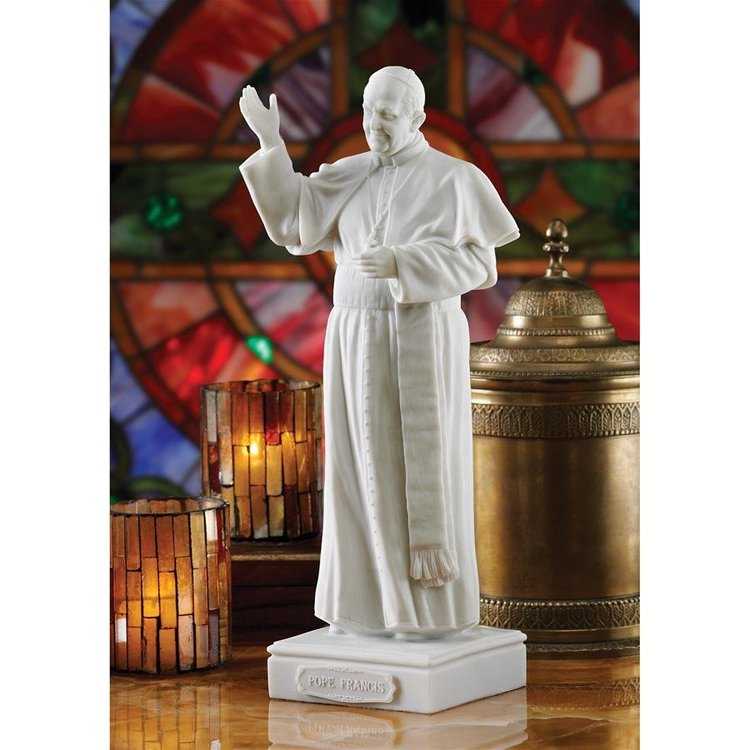 View larger image of Pope Francis Bonded Marble Resin Statue
