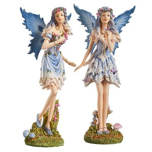 Poppy and Meadow the Windforest Fairies Statue Collection: Set of Two