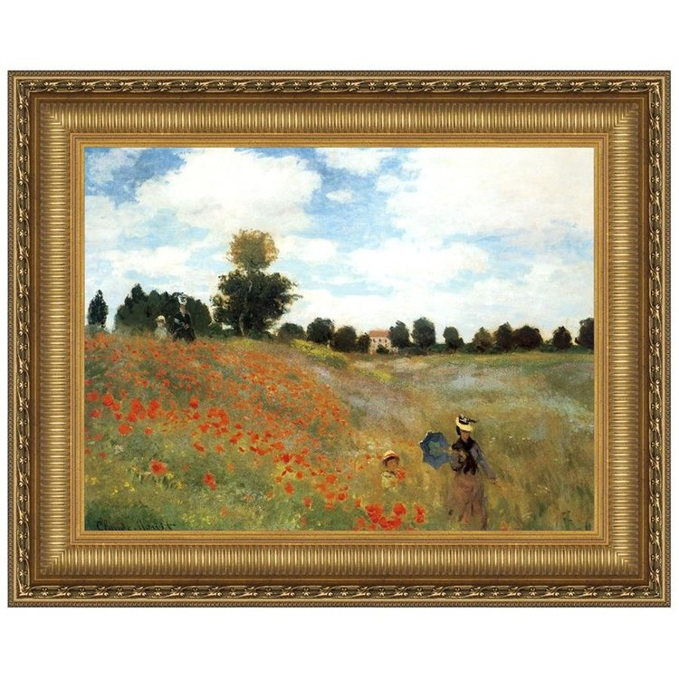 View larger image of Poppy Field, 1873: Canvas Replica Painting