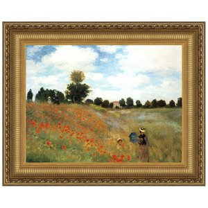 Poppy Field, 1873: Canvas Replica Painting: Small