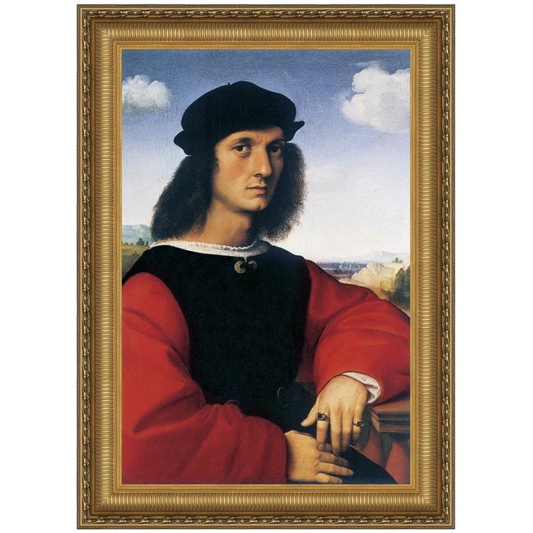 View larger image of Portrait of Agnolo Doni, 1506: Canvas Replica Painting