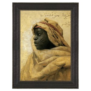 Portrait of a Nubian, 1886: Canvas Replica Painting: Small