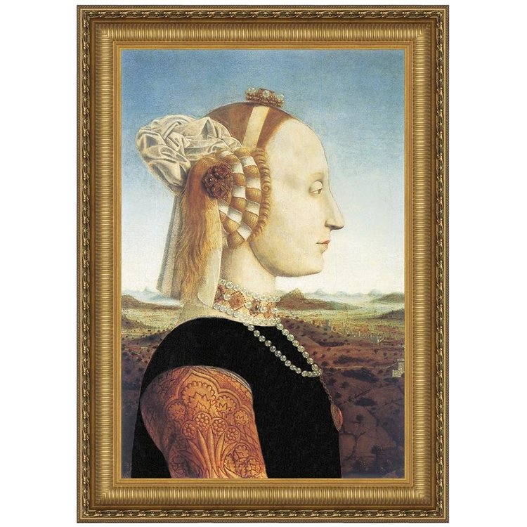 View larger image of Portrait of Battista Sforza, 1466: Canvas Replica Painting: Large