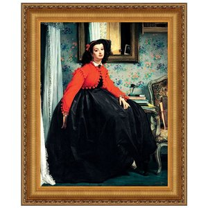 Portrait of Mlle. L.L. Young (Young Lady in Red Jacket), 1864: Canvas Replica Painting: Medium