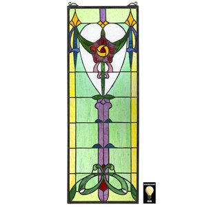 Presentation Rose Tiffany-Style Stained Glass Window