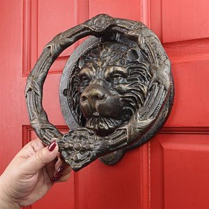 Pride of the Lions Foundry Cast Iron Lion Door Knocker