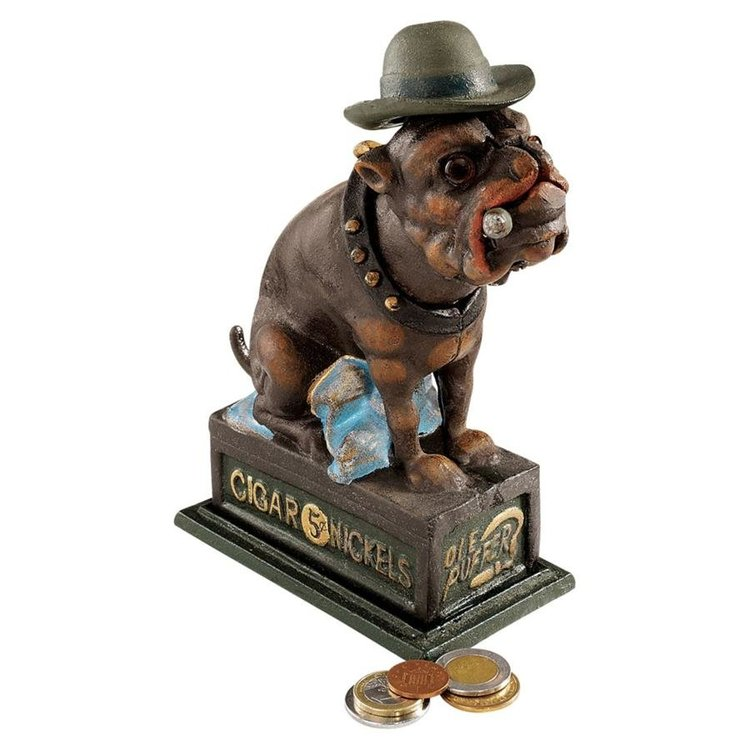 View larger image of Spike, the English Bulldog Authentic Foundry Iron Bank