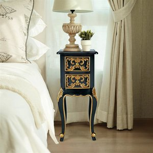 Princess Josephine's French Baroque Petite Bedside Table: Each